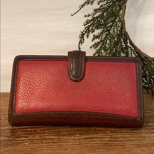 Vintage Coach red/brown leather wallet